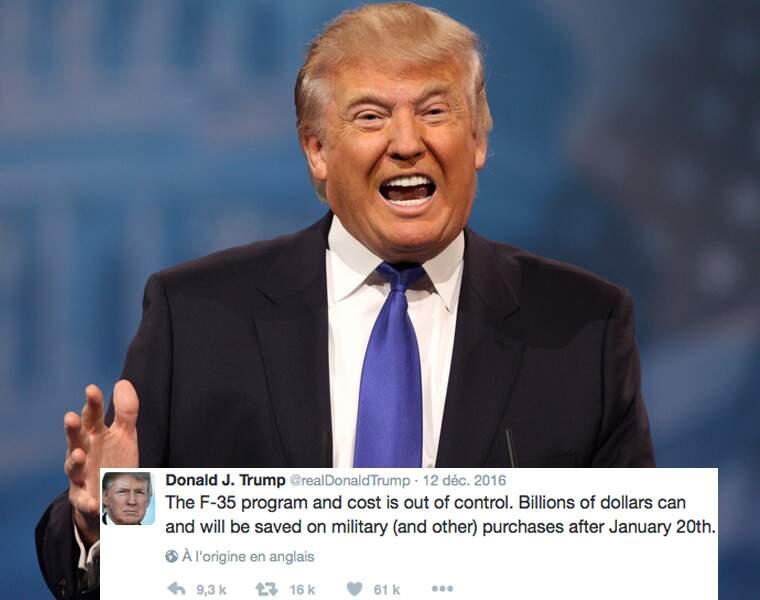 Donald Trump veut faire baisser la facture du F-35, le programme militaire le plus cher de l'histoire…
