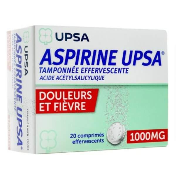 À éviter : Aspirine UPSA tamponnée 1.000 Mg, 20 comprimés effervescents