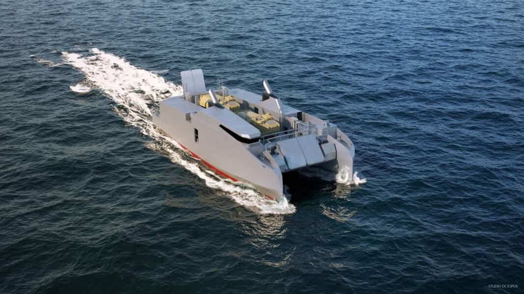 La barge de débarquement L-CAT en version autonome de CNIM