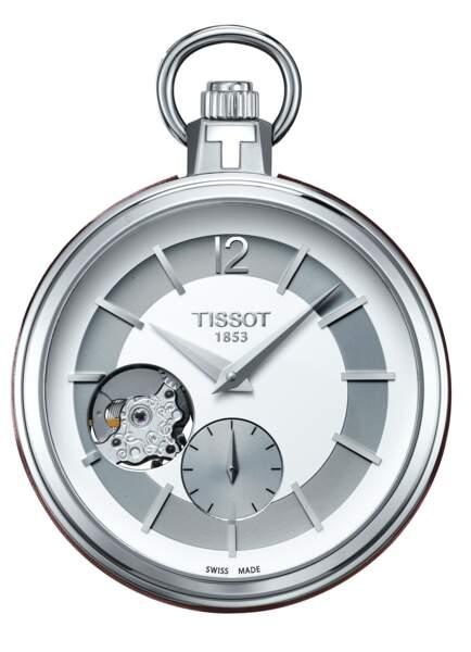 Pocket 1920 à remontage manuel en acier, Tissot (565 euros)