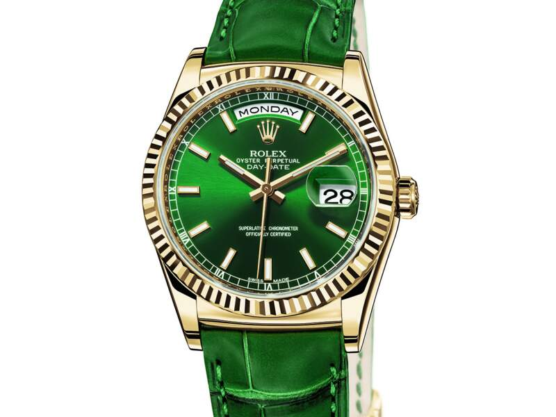 Oyster Perpetual Day-Date en or jaune, Rolex (17.950 euros)