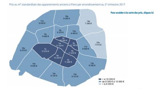 98f28f8ac9 Plus marquant encore, 12 arrondissements sur 20 dépassent déjà les 9.000 euros  euros le mètre carré…