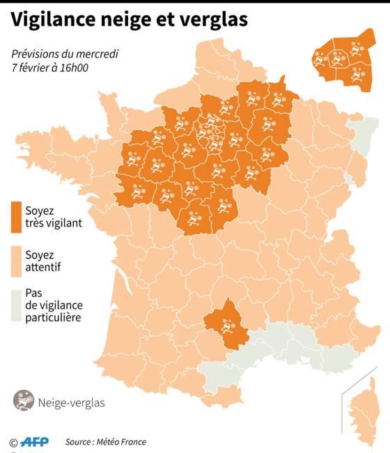 Des chutes de neige exceptionnelles en France