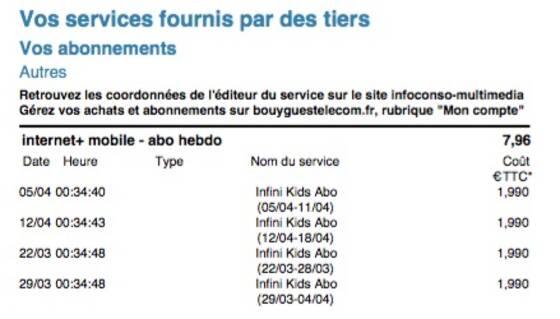 Infini Kids Abo Des Clients De Bouygues Sfr Et Orange Se