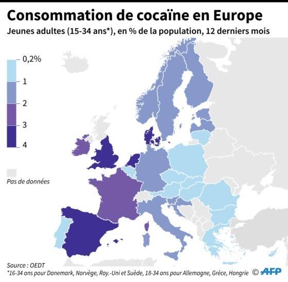 La cocaïne s'installe durablement en Europe