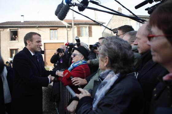 Le périple d'Emmanuel Macron devient diplomatique — Grande Guerre