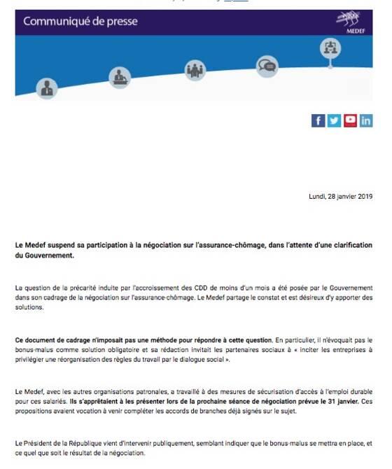 Edouard Philippe appelle le patronat à revenir négocier — Assurance-chômage