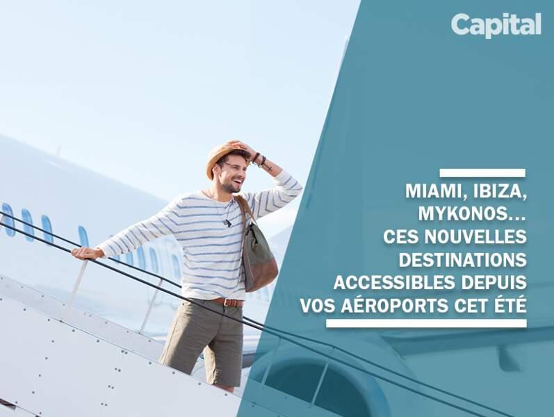 Découvrez la liste des vols disponibles pour la première fois au départ de votre ville