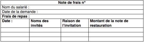 Note De Frais Remboursement Et Exemples Capital Fr
