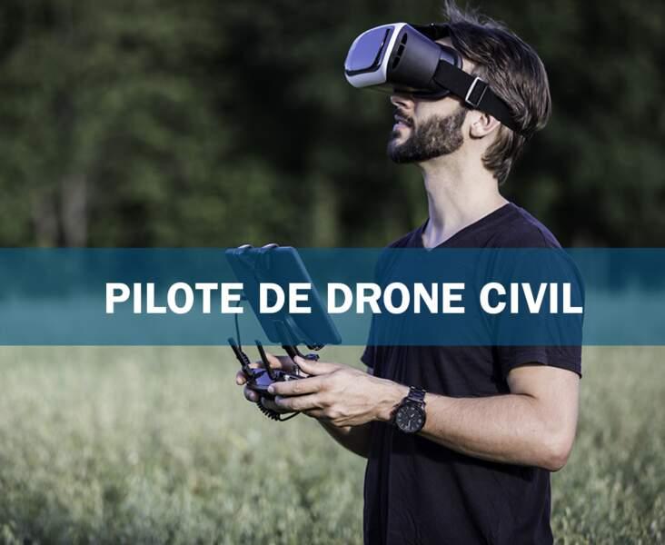 Pilote de drone civil : l'aviateur de l'IoT