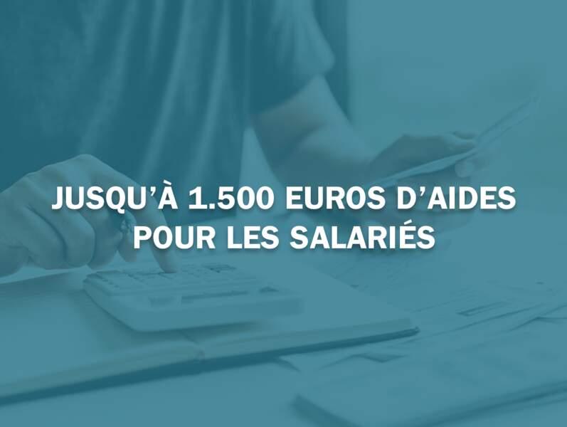 Jusqu'à 1.500 euros d'aides pour les salariés