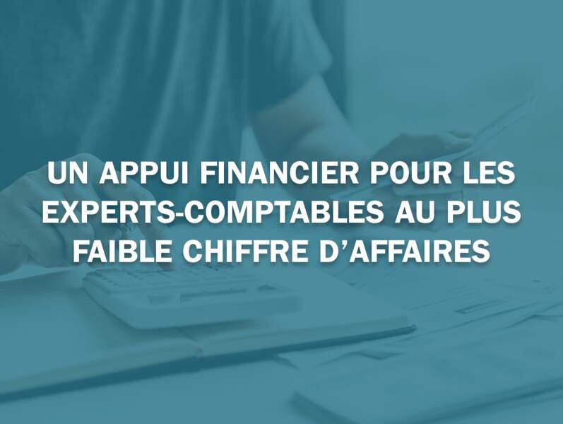 Un appui financier pour les experts-comptables au plus faible chiffre d'affaires