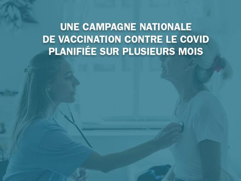 Une campagne nationale de vaccination contre la Covid planifiée sur plusieurs mois