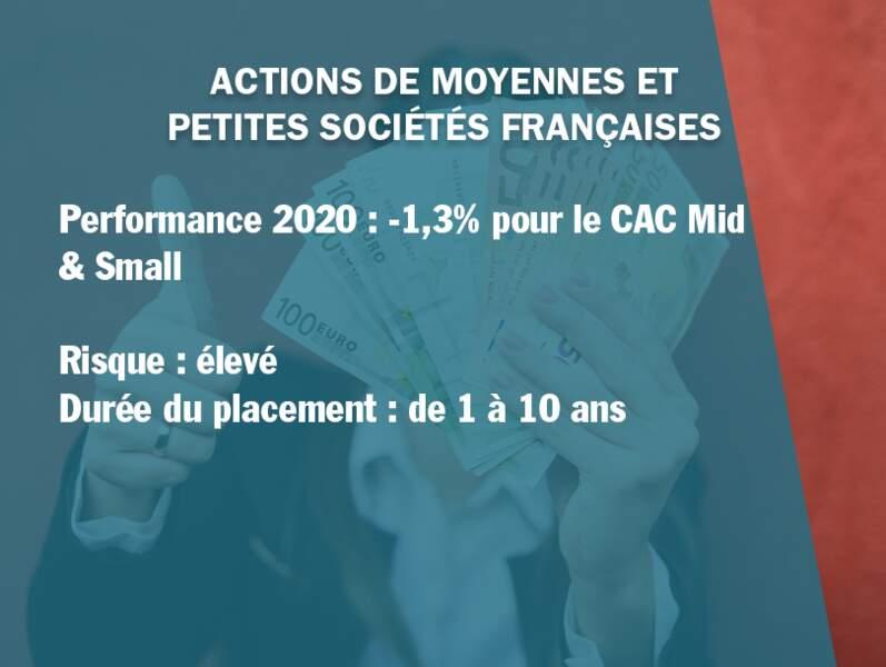 Actions de moyennes et petites sociétés françaises