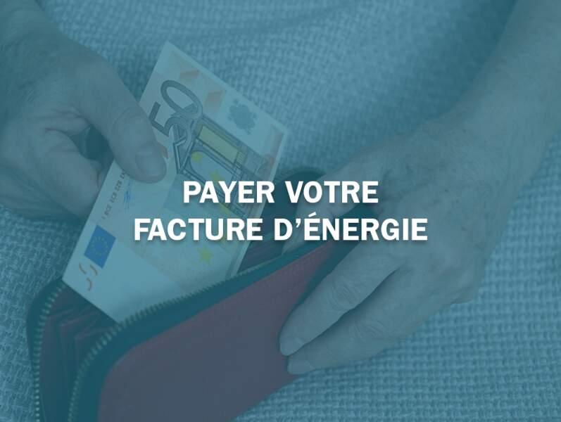 Payer votre facture d'énergie