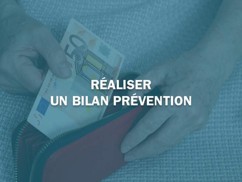 Réaliser un bilan prévention