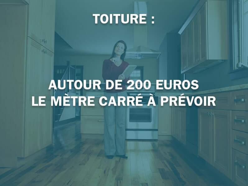 Toiture : autour de 200 euros le mètre carré à prévoir