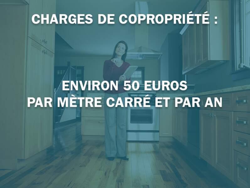 Charges de copropriété : environ 50 euros par mètre carré et par an