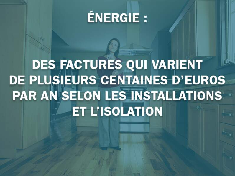 Énergie : des factures qui varient de plusieurs centaines d'euros par an selon les installations et l'isolation
