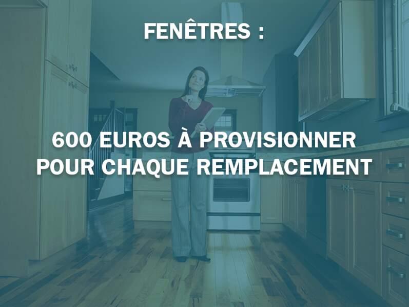 Fenêtres : 600 euros à provisionner pour chaque remplacement