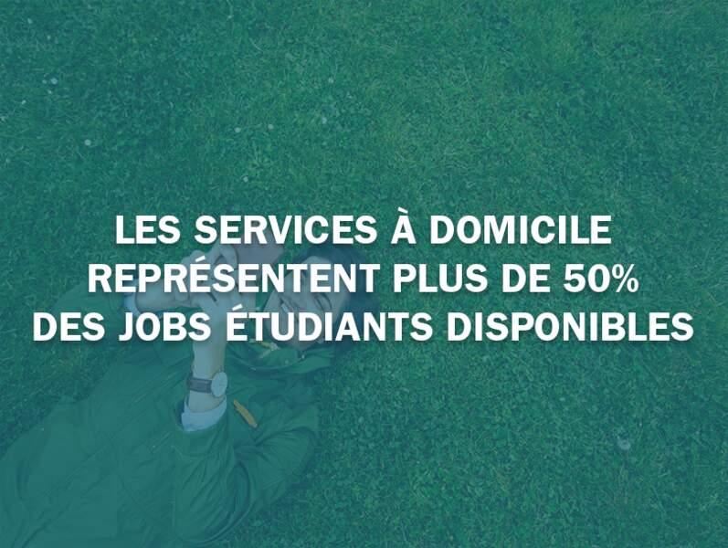 Les services à domicile représentent plus de 50% des jobs étudiants disponibles