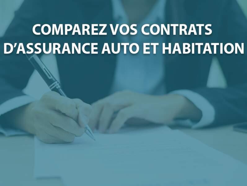 Comparez vos contrats d'assurance auto et habitation