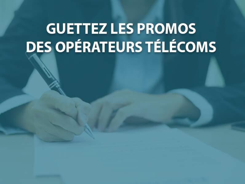 Guettez les promos des opérateurs télécoms