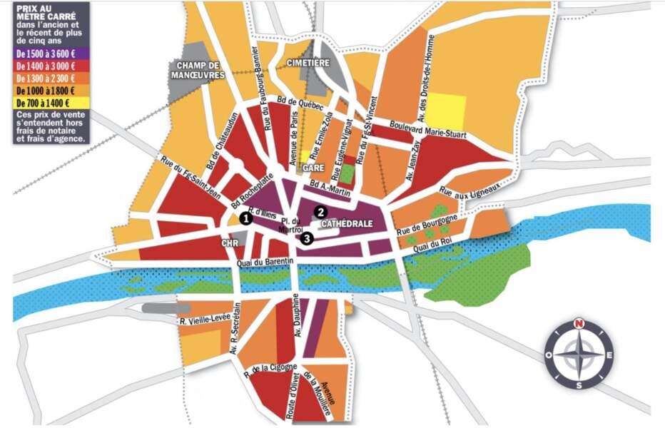 Orléans : l'inflation se propage du centre-ville vers les secteurs sud