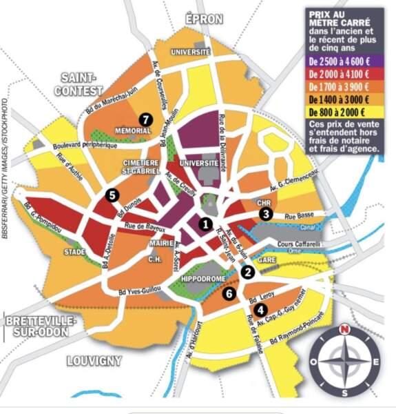 Caen : la cote rebondit dans tous les secteurs
