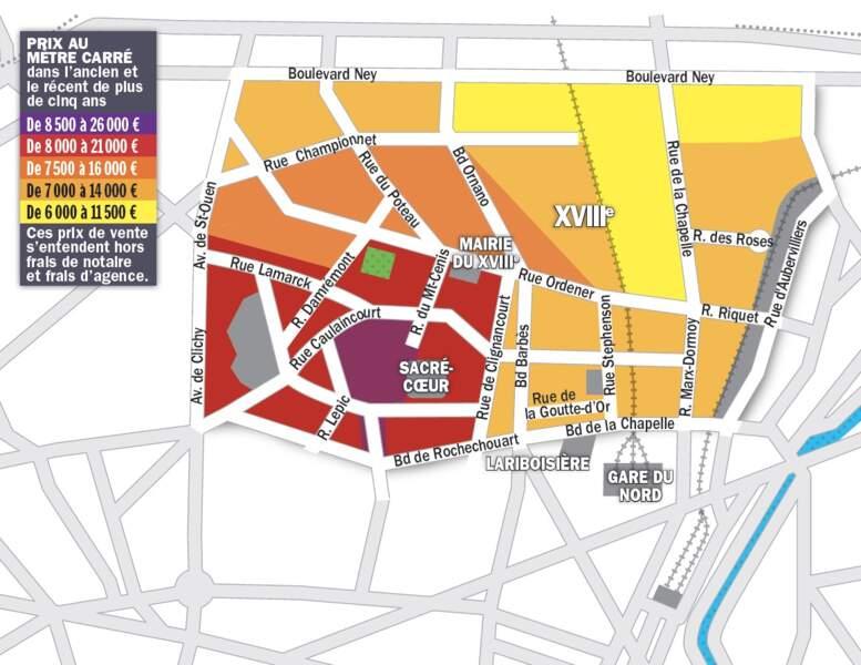 Paris XVIII : ça coince pour les logements de plus de 60 m2