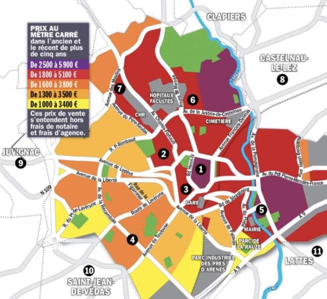 Montpellier : les secteurs centraux connaissent la plus forte inflation (12% en un an)