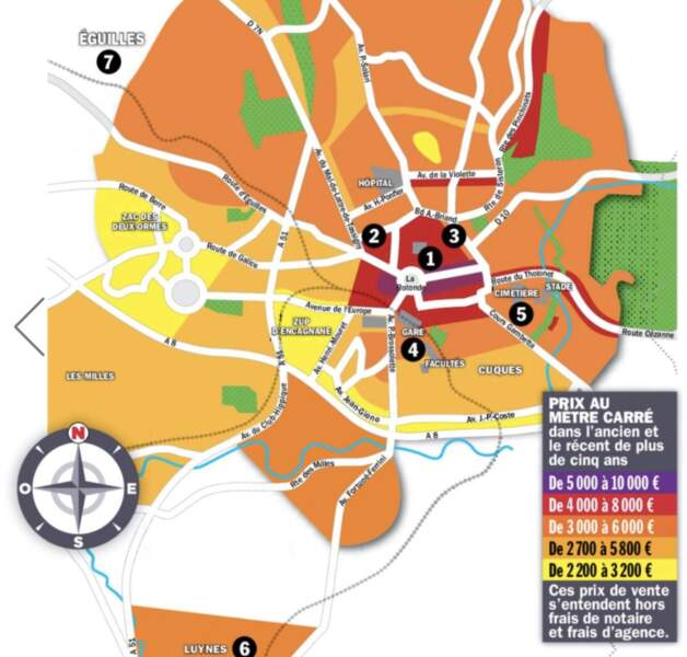 Aix-en-Provence : la hausse des prix, de 5% en moyenne sur un an, va se poursuivre