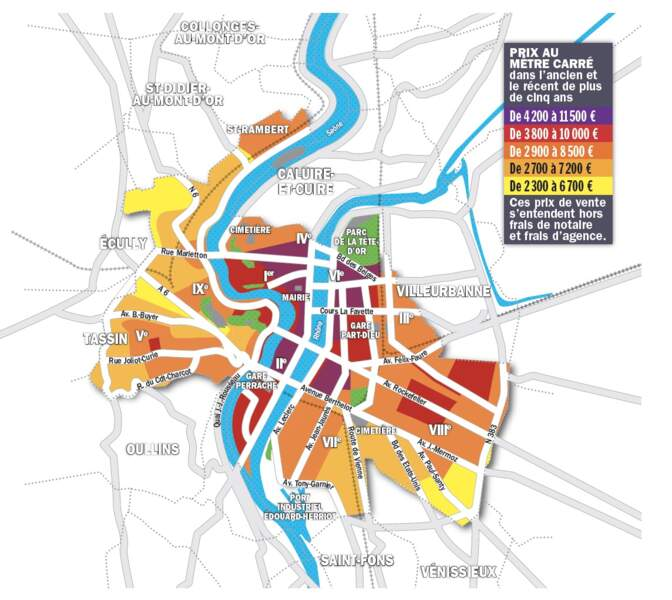 Lyon : les derniers étages avec terrasse à plus de 6.000 euros le mètre carré