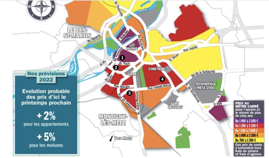 Metz : des hausses de prix de 4 à 10% en un an