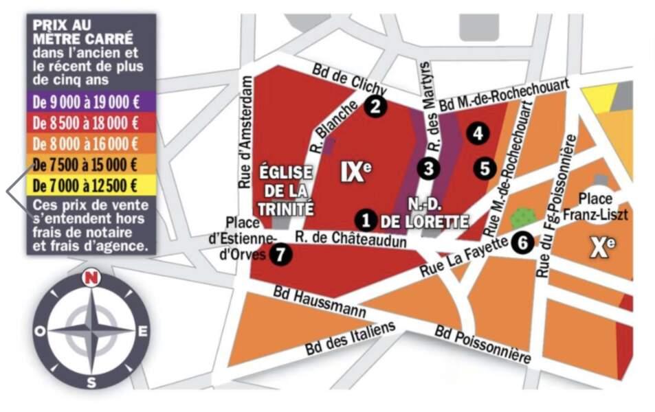 Paris IX : le mètre carré rénové repasse sous la barre des 10.000 euros